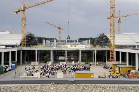 Bauarbeiten für die Messe-Erweiterung liegen gut im Zeitplan