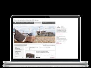 Präsentation von Potenzialflächen im kommunalen Immobilienportal