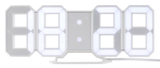 NX 5704 Lunartec Grosse Digital LED Tisch  und Wanduhr 7 Segmente dimmbar Wecker 21 cm