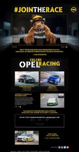 "Great fun: Simply click on the Opel campaign page ""Join the Race!"", watch the social video, answer the question and with a bit of luck win an Opel OPC training on the Nordschleife"