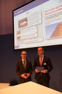 Opel überzeugt beim Markenmonitor: Die Ergebnisse präsentierte der wissenschaftliche Leiter der Händlerzufriedenheitsstudie Prof. Dr. Stefan Reindl (Institut für Automobilwirtschaft) zusammen mit Schwacke-Geschäftsführer Daniel Breves (rechts), © GM Company