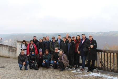 Die Rumänische Delegation in der Jugendherberge Burg Wildenstein