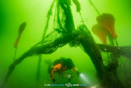 Geisternetzbergung vor Rügen, Foto: Cor Kuyvenhoven - Ghostfishing