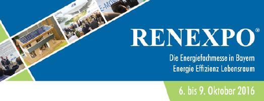 RENEXPO 2016 mit Fokus auf Energie- und Materialeffizienz