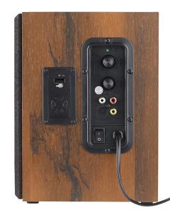 auvisio Aktives Bluetooth-Stereo-Regallautsprecher-Set im Holz-Gehäuse, 80 W