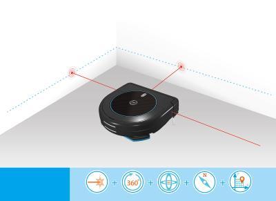 NX-5907 Sichler Haushaltsgeraete Multiroom-Saug-und Wisch-Roboter mit Ladestation