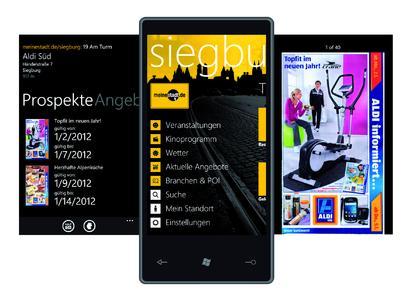 """meinestadt.de integriert """"kaufDA""""-Prospekte in seine Windows Phone 7-Applikation"""