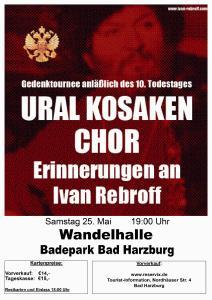 Ural Kosaken Chor am 25. Mai in der Wandelhalle