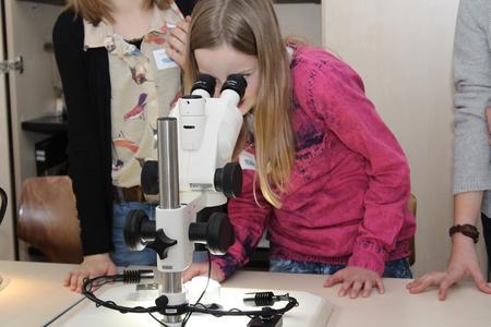 """Tolle Bilder durch das Hochleistungs-Mikroskop beim Workshop """"Schraube locker?"""""""