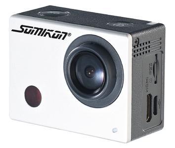 NX-4128 Somikon Full-HD-Action-Cam DV-850.WiFi mit LCD-Display Fernbedienung