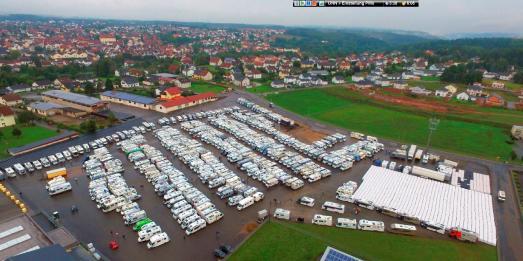 Der Weltrekord-Konvoi 2017 in Ruhe. Foto: womo-konvoi.de