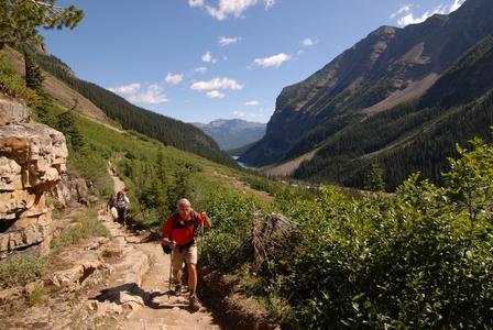 Wandern in den Rocky Mountains - Six Glaciers Trail bei Banff