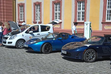 Bertha Benz Challenge 2011 im Bruchsaler Schloß