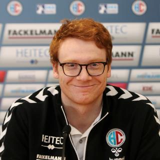 Rückraumspieler Nicolai Theilinger kehrt bald ins Team zurück (Foto: HJKrieg, Erlangen)
