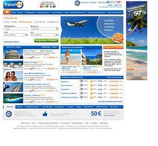 Screenshot Startseite travel24.com