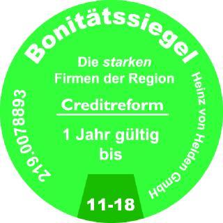 Heinz von Heiden erneut mit Creditreform-Siegel ausgezeichnet