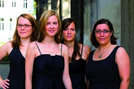 Neue und alte Musik in entspannter Atmosphäre: das Almandin Quartett im Park der Sinne