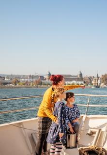 Konstanz Schifffahrt Familie, Copyright MTK Dagmar Schwelle