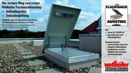 Der sichere Weg zum ersten Wellhöfer FlachdachAusstieg: - Aufmaßservice - Eibaubegleitung