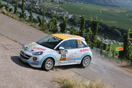 Wiederholungstäter: Niklas Stötefalke (im Bild), Sebastian von Gartzen, Kevin Müller und Tim Wacker haben alle bereits ADAC Opel Rallye Cup-Erfahrung gesammelt
