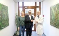 Karina Berger, Prof. Dr. Laubenberger, Dietmar Zapf (v. l.)