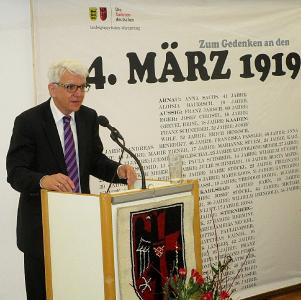 Landesobmann Klaus Hoffmann bei der Gedenkfeier 2019