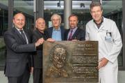 P.v.l.n.r.: Prof. Dr. Christof Müller, Joachim Czichon, Helmut Wagner, Prof. Dr. Joachim Kühr, PD Dr. Uwe Spetzger