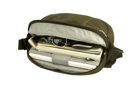 Gepolstertes Laptopfach, weitere Fächer, Netztaschen und Taschen
