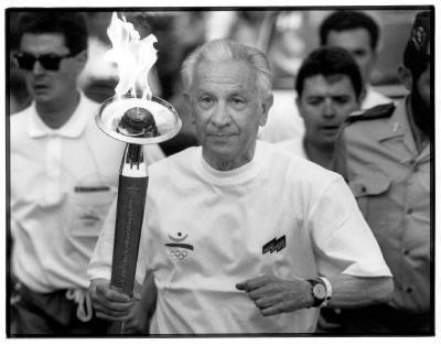 Orignialfoto der Olympischen Fackel von Barcelona 1992