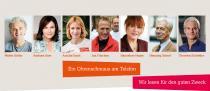 Banner mit den Botschaftern und Botschafterinnen von HelpAge Deutschland.