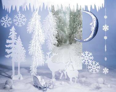Märchenhafte Winterbäume / Bildvermerk: www.dekowoerner.de