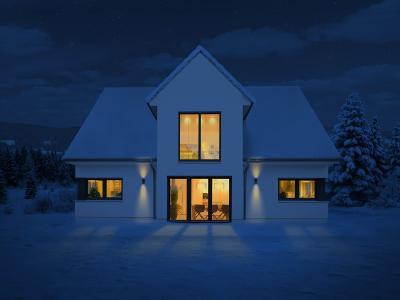 Deutsche Bauwelten Einfamilienhaus Winter