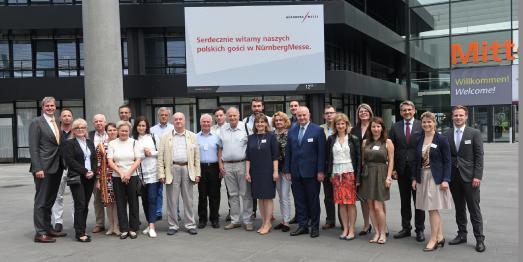 Polen ist Wachstumschampion am Messeplatz Nürnberg: polnische Journalisten machten sich ein Bild vom Wirtschaftsstandort und der Tourismusdestination Nürnberg / Foto: obx-news/NürnbergMesse/Bischof und Broel