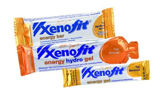 Xenofit energy bar, Xenofit energy hydro gel und Xenofit  hydro gel