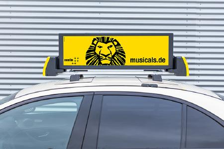 Revolution bei der Taxiwerbung mit digitalen Dachwerbedisplays