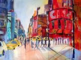 Bilder wie »NY-rush hour 2011« stellt Sabine Hilscher aktuell im Seminaris Hotel Bad Honnef aus. Bild: Hilscher