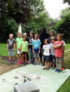 Bildhauer-Workshop mit Michael Kasavenge, Foto B.Eber
