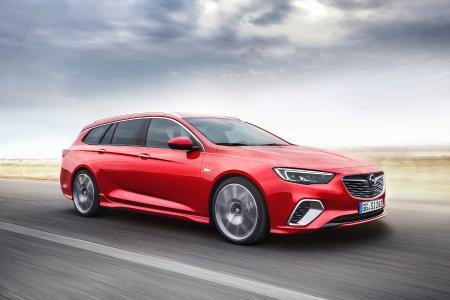 Scharf geschnitten: Der neue Opel Insignia GSi Sports Tourer hält, was er von außen verspricht