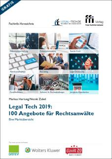 Legal Tech 2019: 100 Angebote für Rechtsanwälte