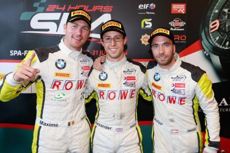 Maxime Martin, Alexander Sims, Philipp Eng, Spa-Francorchamps 2016