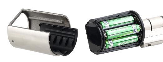 VisorTech Elektronischer Tür-Schließzylinder, Transponder-Schlüssel, Zahlen-Code