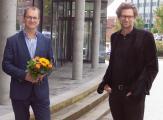 Dr. Sascha Engelbach, Dr. Arne Zerbst (Präsident Muthesius Kunsthochschule)