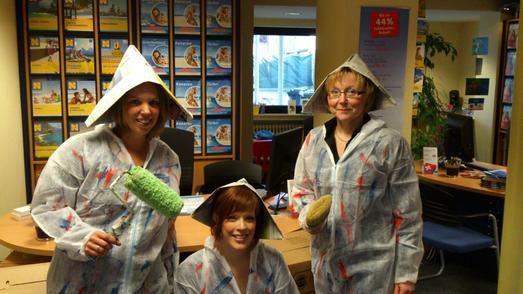 Die drei Mitarbeiterinnen Alexandra Hebben, Monika Dicker und Sylvia Lantermann (v. l. n. r.) können sich bald über Verstärkung im Büro freuen. Zum Sommer 2013 wird Goch Ausbildungsstandort