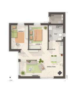 Grundriss Glueckswelthaus 61 (Bild: Town & Country Haus Lizenzgeber GmbH)