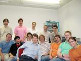 Regensburger Team mit Betreuern und Fan-Club