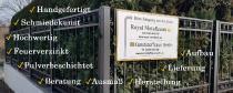 Royal-Metallzaun - neuer Standort