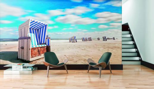 Ein Anblick so scharf wie die Realität: Mit den hochwertigen Digitaldrucktapeten von Erfurt-JuicyWalls holen wir uns den Sommer nach Hause – und dehnen die geliebte Urlaubszeit so auf das ganze Jahr aus (Foto: epr/Erfurt)