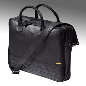 Perfekt fürs Büro: Die klassische, schwarze Opel-Business-Bag aus echtem Leder für 175 Euro sorgt für einen aufgeräumten Arbeitstag