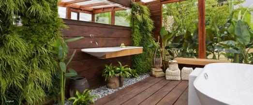 Pflanzen und Badezimmer gehen toll zusammen, wie hier bei burgbad.