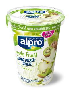 Sojajoghurtalternative Apfel-Kiwi Limited Edition von Alpro